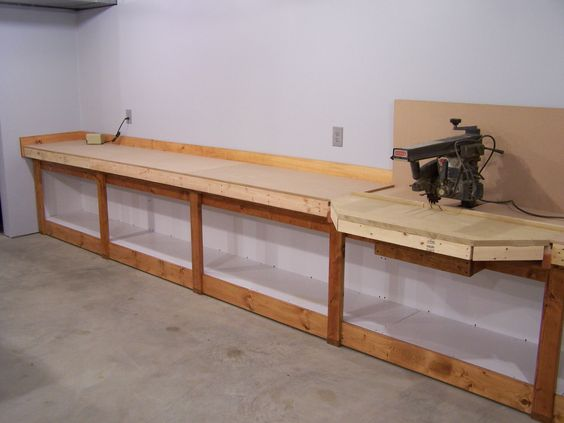 Workbenches, Home and Table saw station on Pinterest