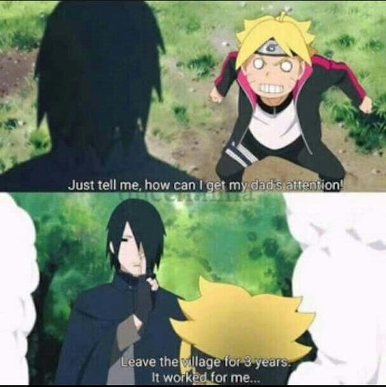 Sasuke, Boruto, funny, quote, text, comic; Naruto