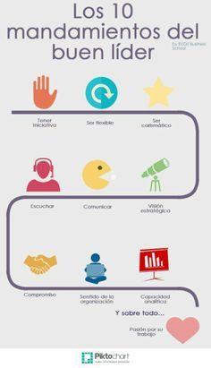 Los 10 mandamientos del buen líder #infografia #infographic