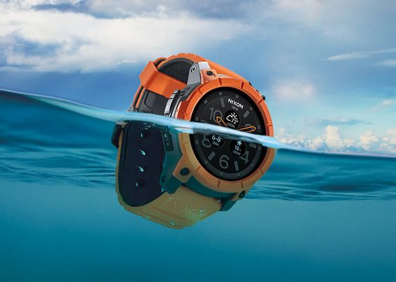 The Mission is water resistant to 100 meters while the durable 48mm polycarbonate case is also shock resistant.