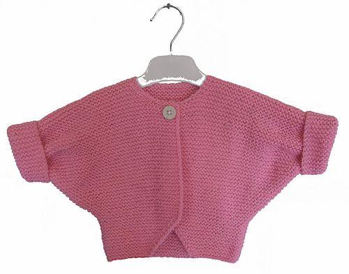 Baby DK Pretty Short Sleeved Cardigan Jumper Double Knitting Pattern UKHKA 79