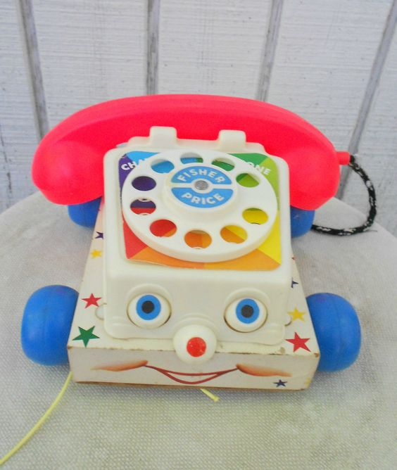 60s Fisher Price Telephone Chat Vintage Toy Chatter Phone 747 1961 ...