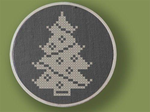 Christmas Tree Cross Stitch Pattern PDF File by andwabisabi