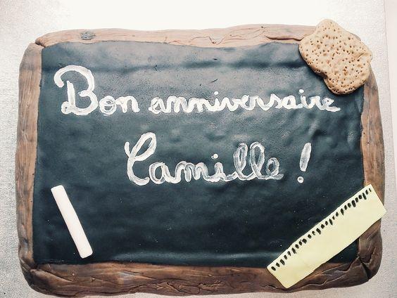 Gâteau thème école
