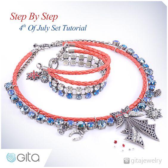 4th of july jewelry set , new flower stone settings from swarovski gita jewelry - wholesale jewelry parts manufacturer and gita school for jewelry makers
