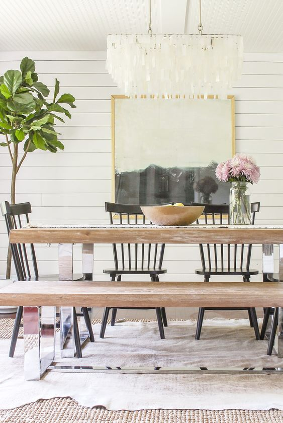 Cool Shabby Chic Small Dining Room