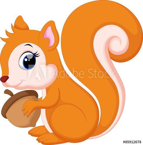 Cute Squirrel Cartoon Esquilo Fofo Arte Esquilo Cartoon Cartoon