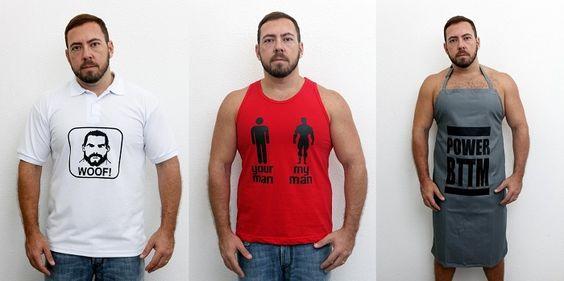 Nova grife Shout foca no público LGBT e tem camisetas, aventais e bonés para os ursos e bears