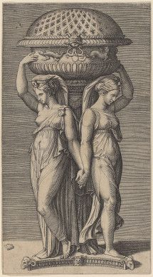 Marcantonio Raimondi (Italian, 1480-1534); A Censer; engraving (no date); National Gallery of Art, Washington, D.C.