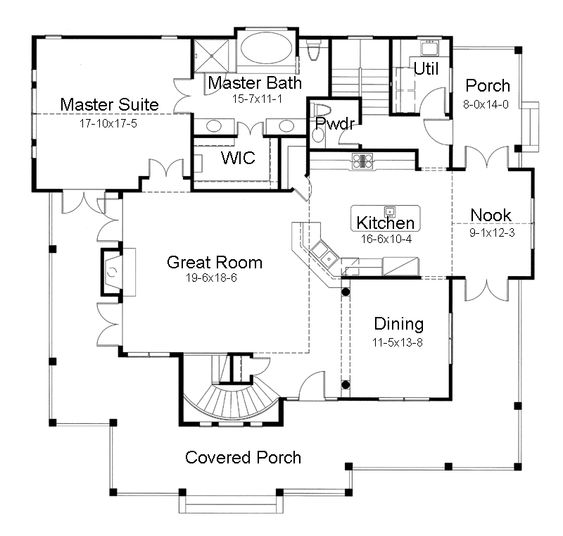 Small one story house plans one story house plans with for Unique one story house plans