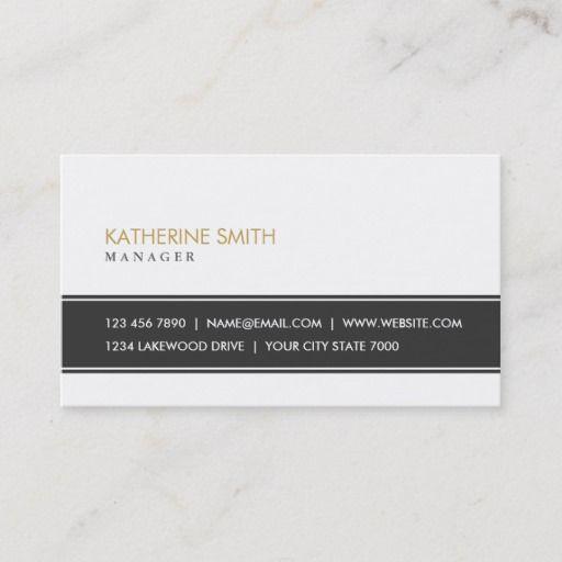 Elegant Professional Plain Simple Black And White Business Card Zazzle Com Fashion Business Cards Clever Business Cards White Business Card