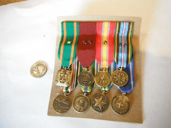 US Navy Military Ribbons and Medals by Wildeblossome on Etsy, $18.00