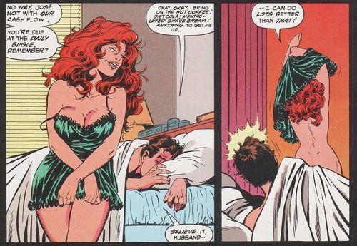 Spider-Man Peter Parker Mary Jane Watson. Cosas de casados.