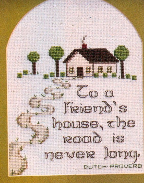 Lovely To A Friend S House The Road Is Never Long Cross