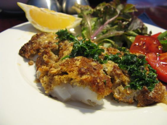 Gordon Ramsay's Roasted Cod with a Walnut, Lemon, and Parmesan Crust