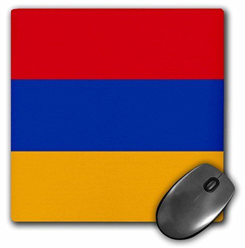 3drose Flag Of Armenia Armenian Red Blue Orange Tricolor Mouse Pad 8 By 8 Mp 157820 1 Lovely Novelty In 2020 Red And Blue Tri Color Blue Orange