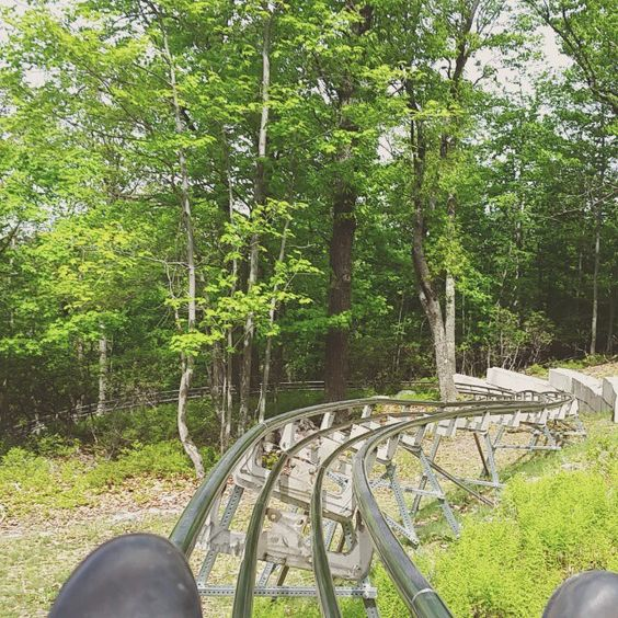 Race down a Mountain Coaster ride in the Poconos at Camelback Mountain Resort! #PoconoMtns