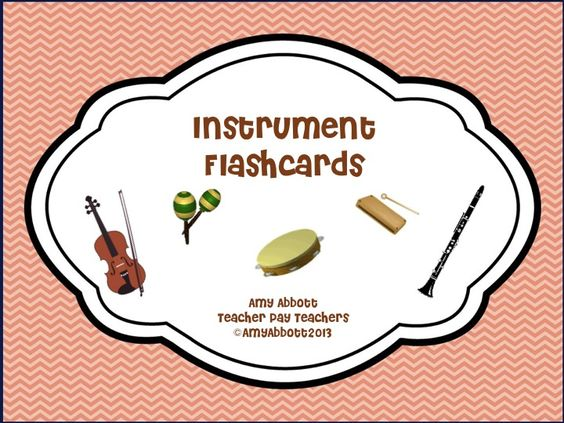 "Music a la Abbott: Instrument Flashcards and a Bundle with ""I Have/Who Has"" Instrument Version"