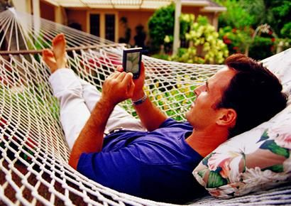 For the Stressed Dad: Hammock. Remember when you begged and begged your parents to get a hammock, but they just wouldn't swing it? It's finally time to give dad some well-deserved rest.