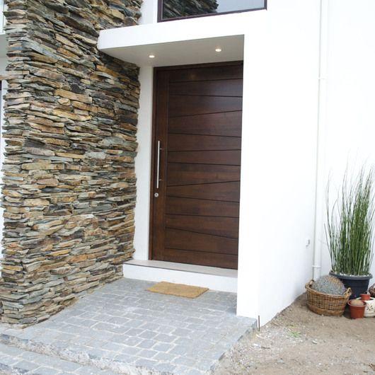 21 Fachadas de puertas principales modernas