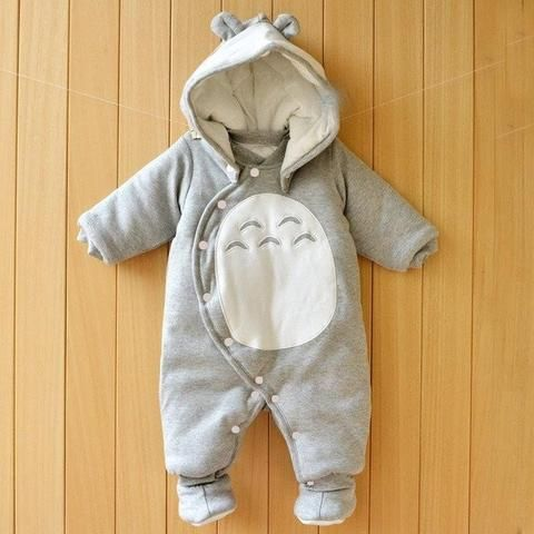 My Neighbor Totoro Baby Clothes Ghibli Store Baby Winter Romper Newborn Outfits Baby Boy Clothes Newborn
