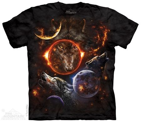 Cosmic Wolves - Adult Tshirt