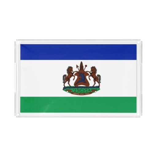 Flag of Lesotho Rectangle Serving Trays
