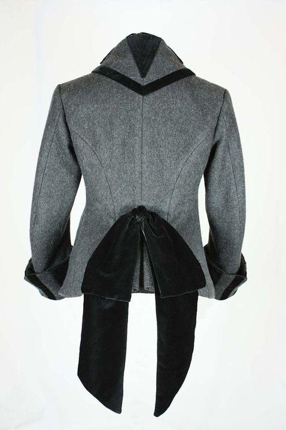 Viktorianische Jacke Paletot mit Stehkragen von BlackSnailPatterns