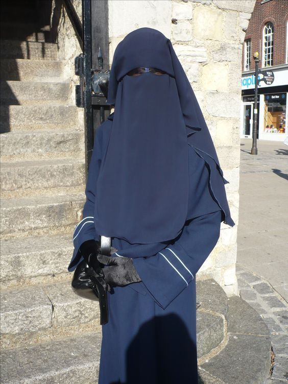 Matching Navy Blue Niqab and Abaya