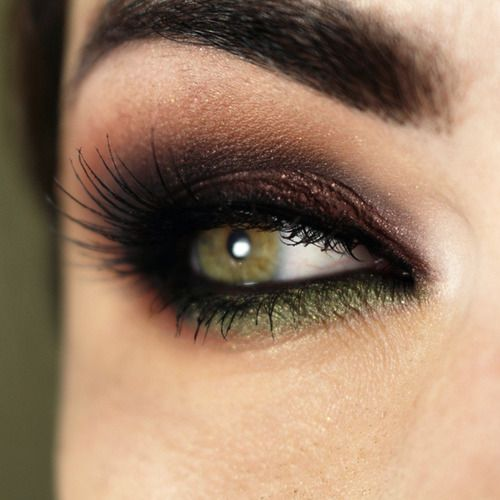 A bold and beautiful look for green eyes. To bring out the best in your green eyes, visit Beauty.com.
