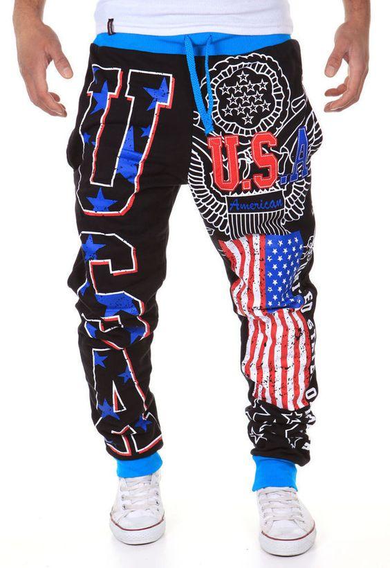 Herren Jogginghose Freizeithose Sporthose USA