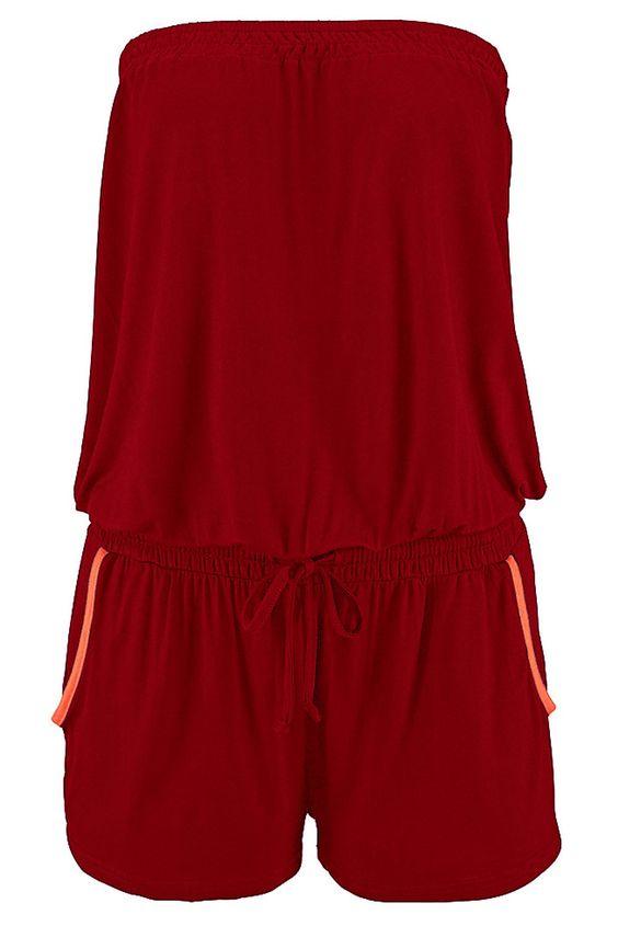 Barboteuse Ete Mode Sans Bretelles Rouge Femme #Modebuycom #Achats #Acheter #basprix #discount #femme #femmes #france #Grande #gros #lingerie #nouveaucollection #pascher #paschere #prixdegros #qualité #robes #sexy #soldes #vente #vetements #vêtements