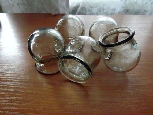 #CHINESE #Massothérapie. SET DE 5 VERRE #MASSAGE #CUPS. POTS Cupping, URSS