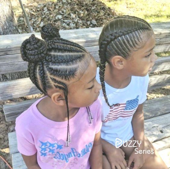 Geflochtene Frisuren Fur Kinder Kids Hairstyles Kids Braided