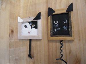 ひんみさまオーダー品です。白猫ちゃんはそのかっこ良さを、黒猫ちゃんはフクロウのような可愛いくりっとした眼を表現できるように制作しました。黒猫ちゃんの方は毛のお...|ハンドメイド、手作り、手仕事品の通販・販売・購入ならCreema。