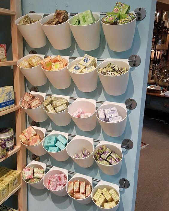 Bubbles Bath & Body's Greenwich Bay Trading Company Soap display at Antiques & Beyond in Atlanta, GA