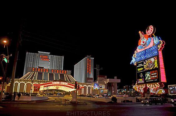 Circus Circus Hotel & Casino in Las Vegas, Nevada, April 2015. #hitpictures #circuscircus #lasvegas #nevada #lights #hotels #circus