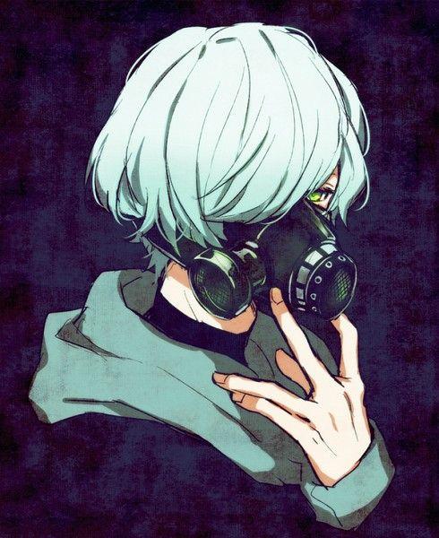 Mikage Hisoka Anime Gas Mask Gas Mask Gas Mask Art
