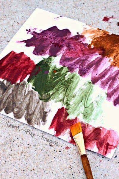 Beautiful textured mud paint recipe.  Spring art kids will love!