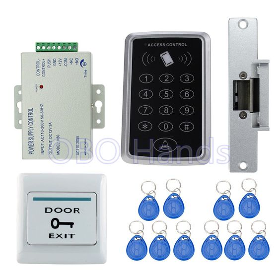 Electric Door Strike Remote Unlock Mechanism For Security Alarms Keypad Entry Audio Video Door Phone Intercom Door Strikes Video Door Phone Security Alarm