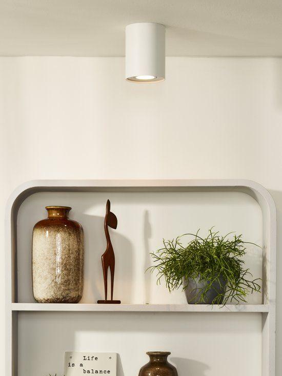 Lucide Tube Plafondspot O 9 6 Cm 1xgu10 Wit Plafondlamp Verlichting Lampen
