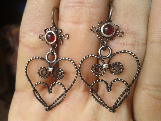 personalized earrings small heart by RenovatioDesign on Etsy