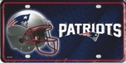 New England Patriots Metal License Plate