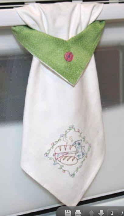 Classy kitchen towel cool stuff - Hanging kitchen towel tutorial ...