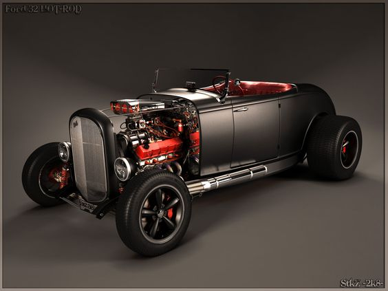 Ford 32 HOT-ROD - 3d