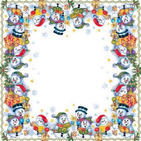 2049 Servilleta decorada Navidad