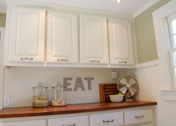 wainscot backsplash kitchen pinterest signs cabinets and search