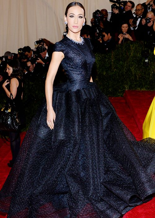 Maggie Q attends the 'Charles James: Beyond Fashion' Costume Institute Gala at the Metropolitan Museum of Art on May 5, 2014