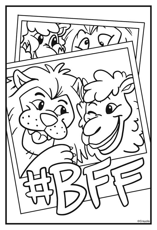 Squad Goals Bff On Crayola Com Free Coloring Pages Coloring Pages Crayola Coloring Pages
