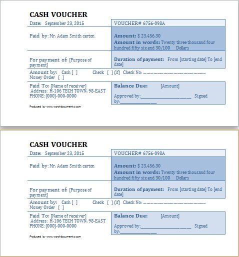 cash voucher template at word-documents Microsoft Templates - cash receipt voucher sample